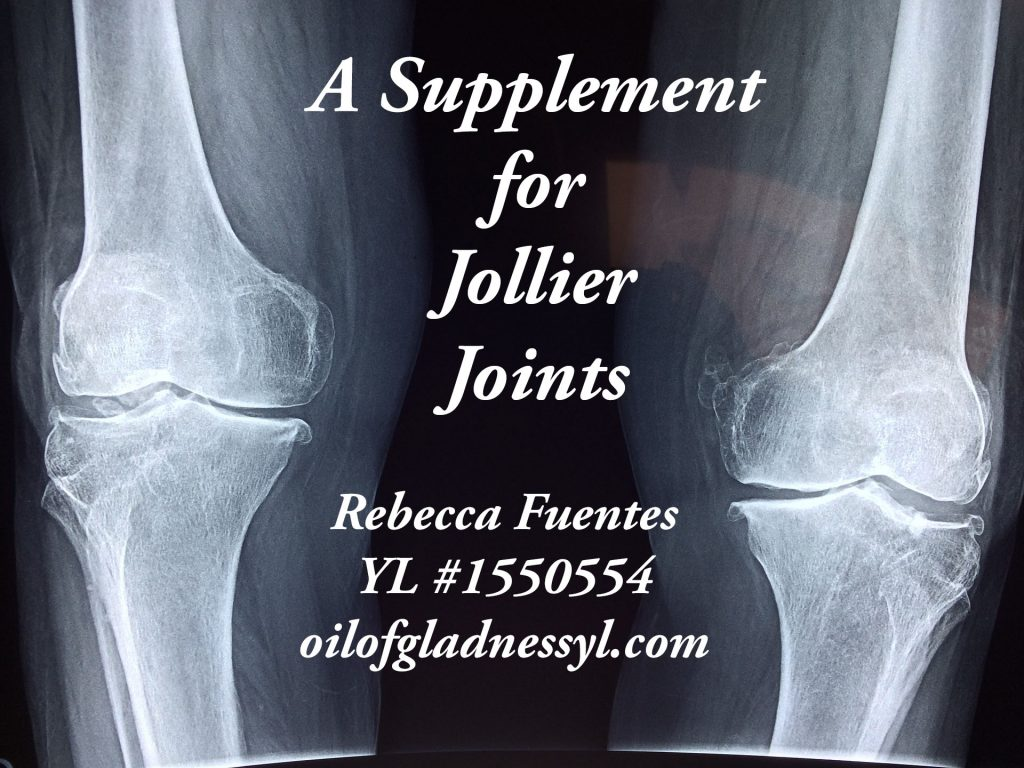 We need to take care of our joints.